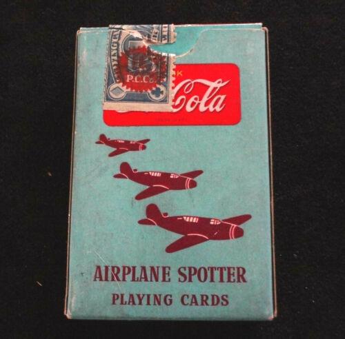 Vintage WWII Coca Cola Airplane ID Spotter Cards Nurse