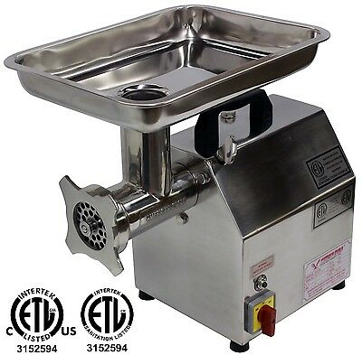 New American Eagle Ae-g12n 12 1hp Stainless Steel Commercial Meat Grinder