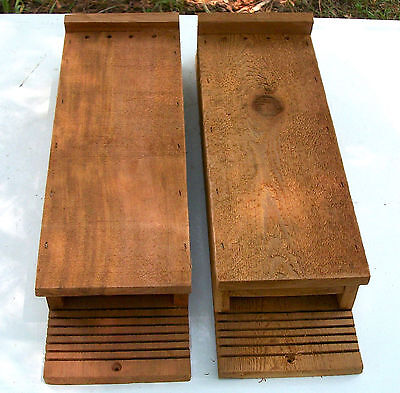 Twin Pack 2 Chamber Handcrafted Bat House  box  Pest & Mosquito Control