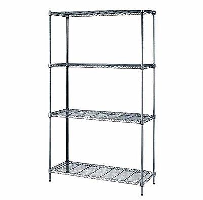 "Quantum 4-Shelf Chrome Wire Shelving Storage Rack 24""W X 30""L X 72""H Free Ship"