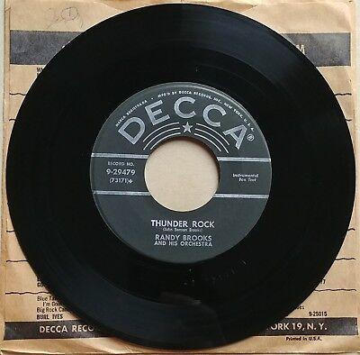 "RANDY BROOKS Thunder Rock/How High The Moon 45 Vinyl BIG BAND SWING BOP JAZZ 7"""