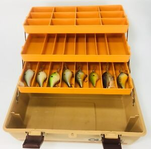 Vintage fishing tackle box Old Pal holds lures bass walleye