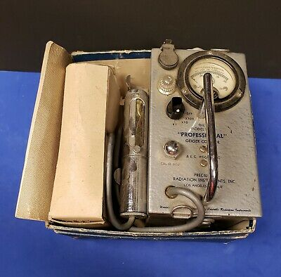 Vintage Professional Geiger Counter Model 107b. A.e.c.sgm-49c