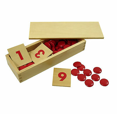 Montessori,Number Cards & counters, MS220