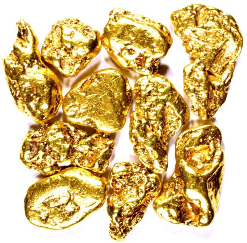 50 PIECE LOT ALASKAN YUKON BC NATURAL PURE GOLD NUGGETS FREE SHIPPING (#L250)