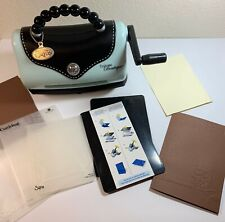 Sizzix Texture Boutique Embossing Cardmaking Purse Style Machine w/ Plates + | eBay