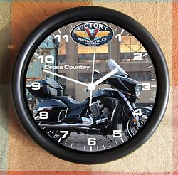 VICTORY MOTORCYCLE CROSS COUNTRY 2 10 inch Resin Wall Clock