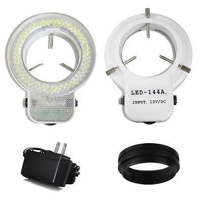 Vision Scientific White 144 Led Ring Light Illuminator For Stereo Microscope C
