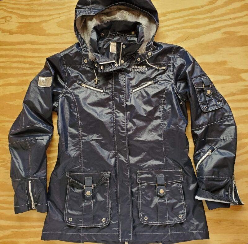 Women Goode Rider Black Utility Equestrian Riding Performance Rain Jacket Size S