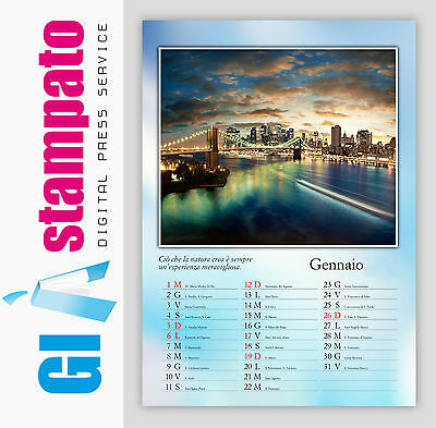 Calendari da muro / parete personalizzati A3 - 13 fogli - mod Classic