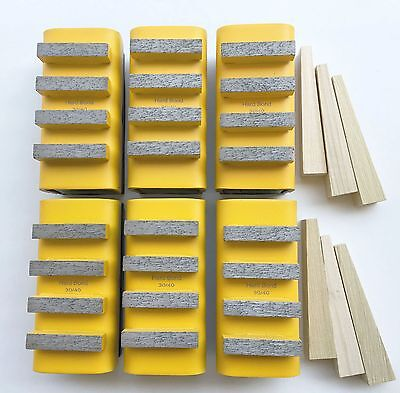 New 6pk Soft Concrete Diamond Grinding Block For Edcostowhusqgeneral Grinders