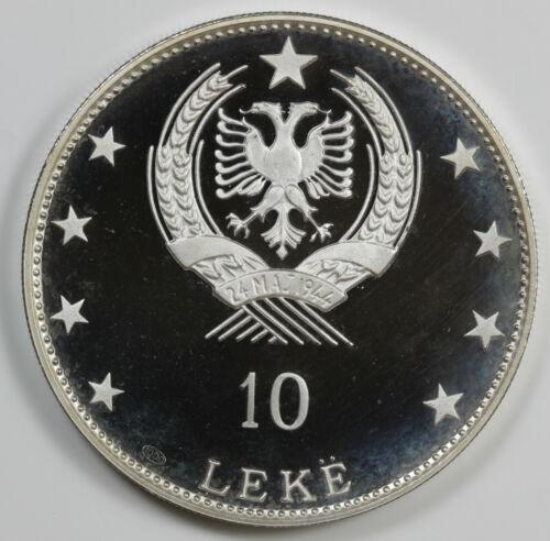1968 Albania Silver 10 Leke Scanderbeg