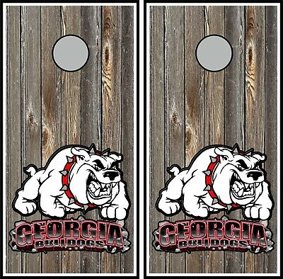 SINGLE Georgia Bulldogs Cornhole Wrap Skin Decal Vinyl NCAA Logo Game DT143