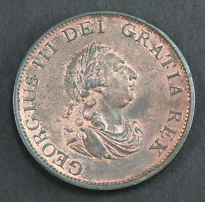George III 1799 Halfpenny (5 gun ports)