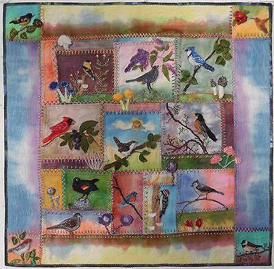 Birds in Wool, Felted Applique Pattern by Debora Konchinsky Critter Pattern Wks