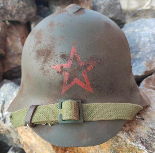 Helmet Steel original Soviet  SSH-36 of the Red Army, during WW II  RKKA.