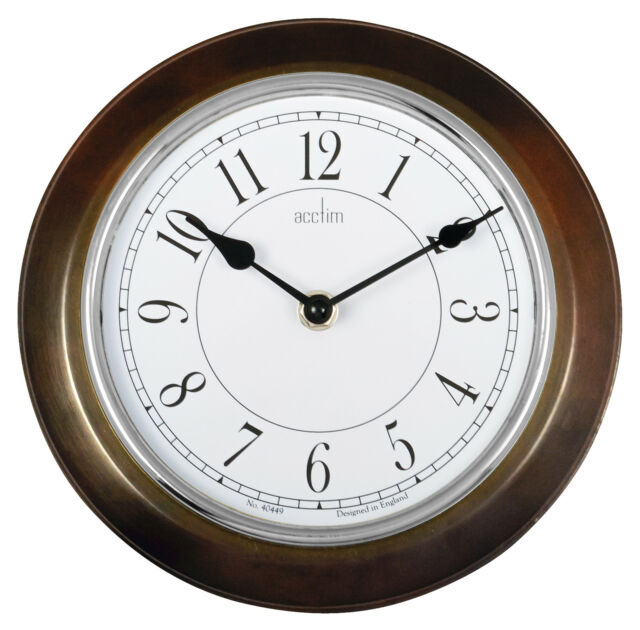 Acctim 24586 Newton Bold Wall Quartz Clock, Dark Wood