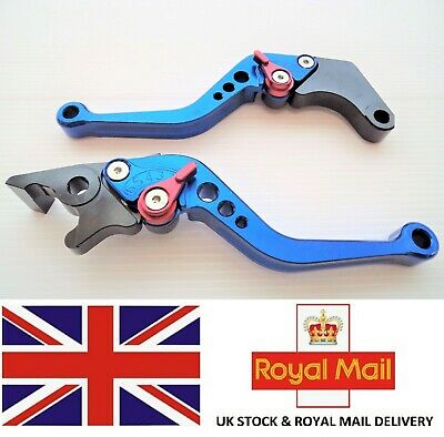 Honda CBR125R Brake & Clutch Levers 6 Position Adjustable BLUE ***UK STOCK***