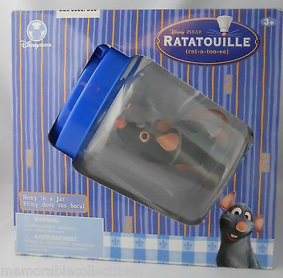 Disney Store Rolling REMY in Jar Pixar Ratatouille Rat Retired Action Figure
