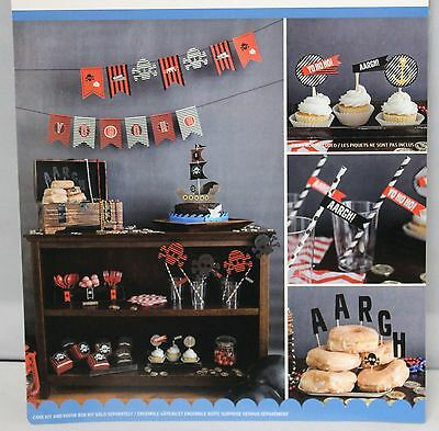 PIRATE THEME BIRTHDAY PARTY BANNER DECORATING KIT 67 PC. BY KIM BYER   - Pirate Themed Birthday Parties