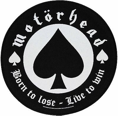 XLG Motorhead Born To Lose Rock Music Woven Back Jacket Patch Applique