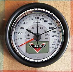 VICTORY MOTORCYCLE Speedometer 10 inch Resin Wall Clock