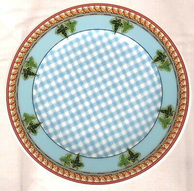 """Versace Rosenthal 8 1/4"""" Salad Plate Blue Casual Jeans Home Ivy Leaves Passion"""