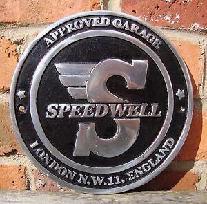 Speedwell Panneau aluminium coulé vw vintage vitesse brm