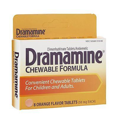 - Dramamine Chewable Formula Tablets Motion Sickness 8 Chewable Orange Tablets