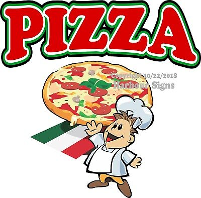 Pizza Decal Choose Your Size Concession Food Truck Vinyl Sign Sticker