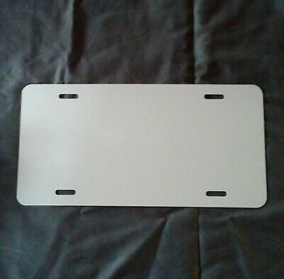 Aluminum License Plate Sublimation Blanks 6x 12 .032 Gauge Set Of 10
