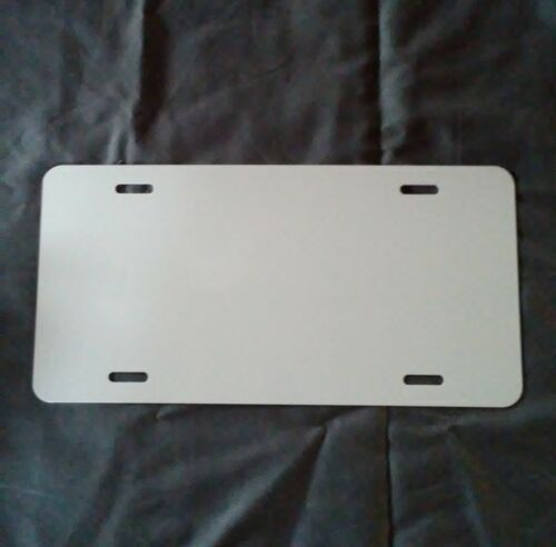 "ALUMINUM LICENSE PLATE SUBLIMATION BLANKS 6""x 12"" .032 GAUGE set of 10"