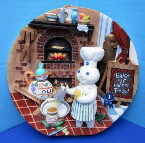 2001 Danbury Mint Pillsbury Doughboy Italian Zucchini Pie 3D Collector Plate FS!