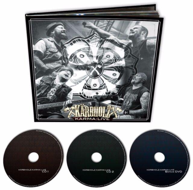 "Kärbholz ""karma live"" limited Earbook Edition 2CD + DVD  NEU Album 2015"