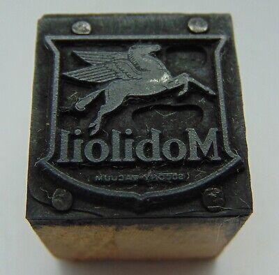 Printing Letterpress Printers Block Mobiloil Pegasus