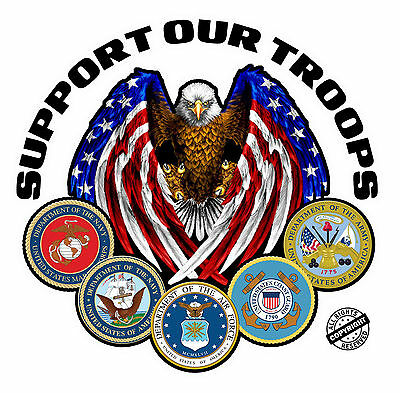 Support Our Troops Version 2  Decal is 5