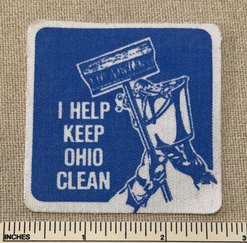 Vintage I HELP KEEP OHIO CLEAN Uniform Badge PATCH Iron On?