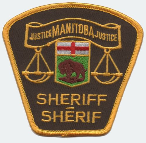 Manitoba, Canada Sheriff Shoulder Patch 1980s