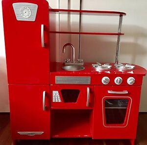 Kids Retro Red Wooden Kitchen 3070 Northcote Darebin Area Preview