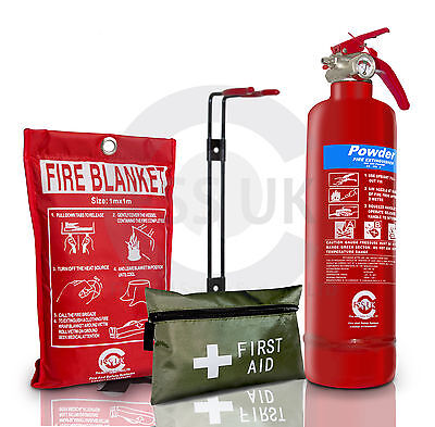 PREMIUM SAFETY KIT FOR CARS TAXI VANS CARAVANS HOMES OFFICE KITCHENS WORKPLACE