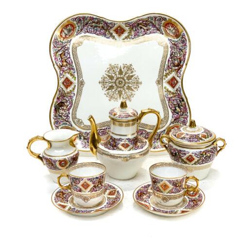Sevres France Porcelain Louis Philippe Chateau Fontainebleau Tete a Tete Service