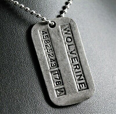 Wolverine/Logan X-MEN Dog Tag Pendant Necklace w/Free Jewelry Box and Shipping](Female X Men)