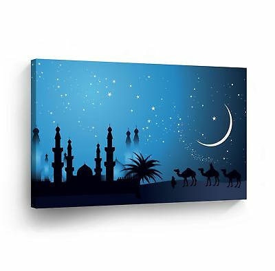 Islamic Wall Art Arabian Nights with the Stars Canvas Print Home (Arabian Nights Wall Art)