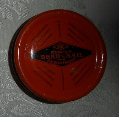 Vintage Family Brad & Nail Assortment Tin