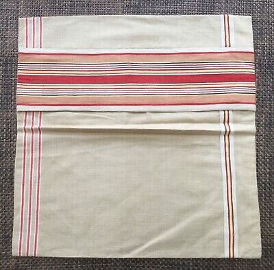 VINTAGE GERMAN MANGLE CLOTH / FRENCH TICKING CUSHION PILLOW COVER 2