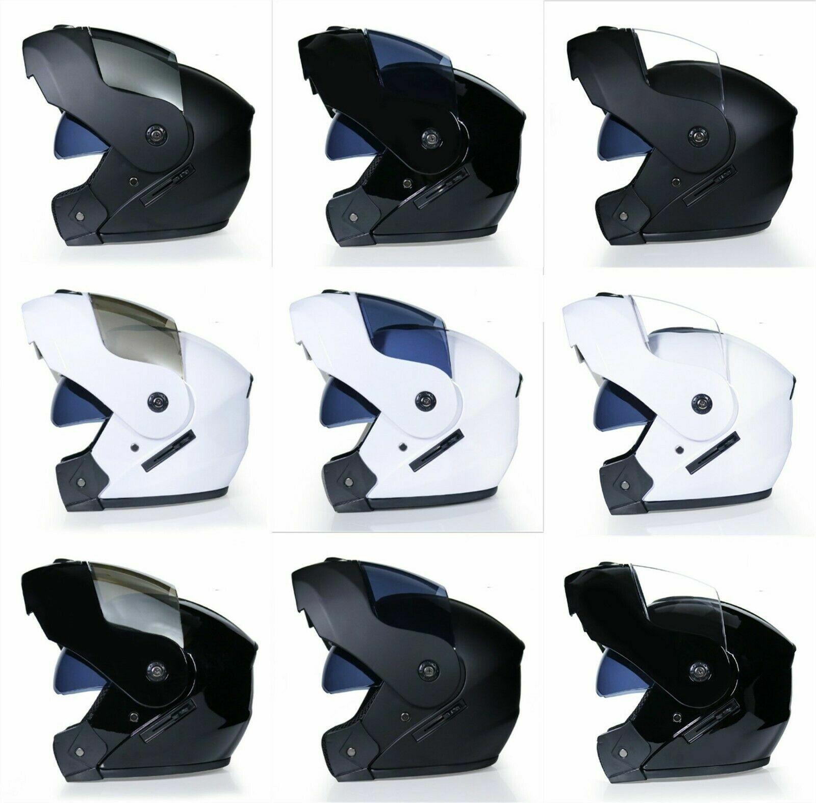 Dual Visier Motorrad Modularer Helm FULL Open Face Motorcross Rennrad Roller