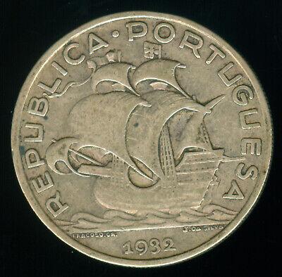 1932 PORTUGAL SILVER 10 ESCUDOS