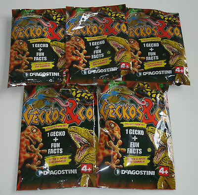 DeAgostini Geckos & Co. - 5 x Booster NEU & OVP