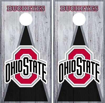 Ohio State Buckeyes Cornhole Wrap NCAA Game Board Skin Vinyl Decal Art Set CO728