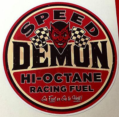 RAT ROD HOT ROD STICKER SPEED DEMON RACING  TOOLS GAS OIL  MOTORCYCLE RAT (Speed Demon Racing)